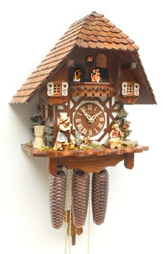 Cuckoo Kingdom, Inc - Cuckoo Clock, Musical Chaletm, Mandoline Player, Dancers, Model