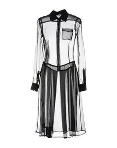Moschino Knee-length Dresses In Black Knee Length Dresses, Striped Pants, Moschino, Beachwear, Duster Coat, Chiffon, Shirt Dress, Silk, Long Sleeve