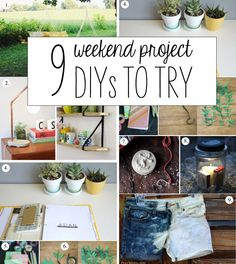 9 Weekend Project DIYs to Try!