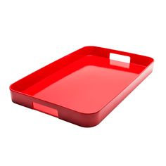 BPA-Free Haus Tray in Red | dotandbo.com