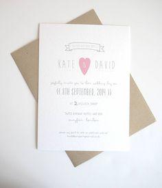 soya milk wedding invitation stationery set by lola's paperie | notonthehighstreet.com