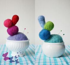 needle felted pincushions - Bing Images