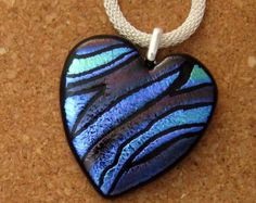 Fused Dichroic Glass Jewelry Pendants Earrings by GlassMystique
