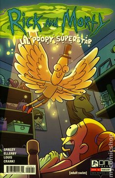 Rick and Morty Lil Poopy Superstar (2016) 2B Oni Press Modern Age Comic Book covers 2