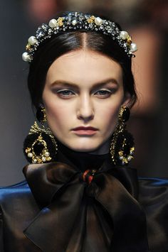 Baroque Jewelry and Accessory | Dolce & Gabbana Fall Winter 2012.