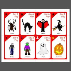 Halloween playing cards for playing a game like uno or go fish.