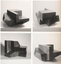 OTEIZA Laboratorio de tizas, maclas .. Geometric Sculpture, Abstract Sculpture, Sculpture Art, Concrete Sculpture, Concrete Art, Contemporary Sculpture, Contemporary Art, Cubic Architecture, Architecture Concept Drawings