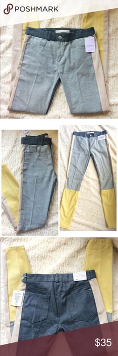 NWT Joe's Jeans color blocked NWT Joe's Jeans color blocked straight ankle jeans. Size w 26 / 4. 93%cotton, 6% polyester, 1% Lycra. Inseam is approx 28.5 inches, rise is approx 9 inches, waist is approx 14 inches. Please no trades.  Bundle for a discount! Joe's Jeans Jeans Straight Leg