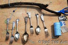Make your own lovely cutlery wind chimes