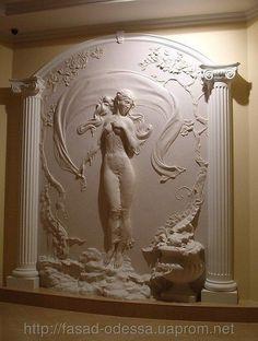 3d Wall Decor, 3d Wall Art, Wall Murals, Art Decor, Wall Sculptures, Sculpture Art, Plaster Art, Stuck, Africa Art