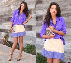 Purple and pleats.   Purple n' Pleats (by Annabelle Fleur) http://lookbook.nu/look/3470571-Purple-n-Pleats