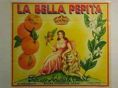 "Naranjas ""La Bella Pepita"" Francisco Arbona.  Alzira."