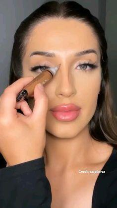 Smoke Eye Makeup, Nose Makeup, Makeup Eye Looks, Skin Makeup, Face Contouring, Contour Makeup, Eyeshadow Makeup, Creative Makeup, Simple Makeup