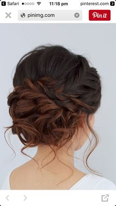 Hair Inspo, Hair Inspiration, Wedding Inspiration, Medium Hair Styles, Curly Hair Styles, Updo Curly, Hair Medium, Medium Wedding Hair, Curly Updos For Medium Hair