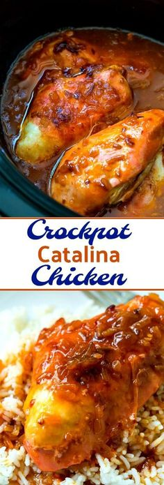 Crockpot Catalina Chicken- only 5 minutes to prep!