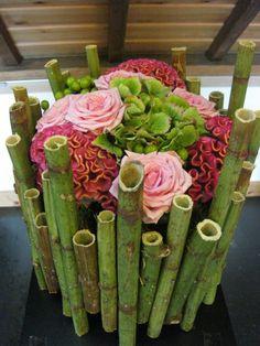 Leaf pattern - Courses contemporary flower arrangements | Workshops theme - Matthys Petra - Eeklo