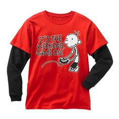 Diary of a Wimpy Kid Game On Weekend Mock-Layer Tee - Boys 8-20