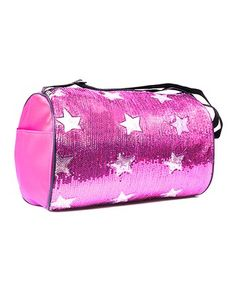 e04cb4818ed3 All For Dance Fuchsia Sequin Star Duffel Bag