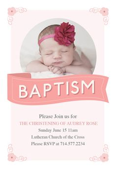 """""""Pink ribbon"""" printable invitation. Customize, add text and photos. print for free!"""