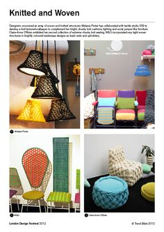 London Design Festival 2012. Knitted & Woven. Trend Bible trade show reports.