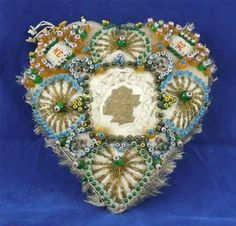 """WW1 soilders forget me not   about WW1 ~ Sweetheart Pin Cushion - Love Token - """"Forget Me Not ..."""