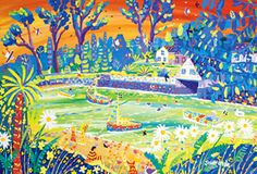 Original painting of Helford by Cornish Artist John Dyer.