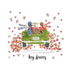 Aren't you glad we live in a world where there are crisp apples, crunchy leaves, college football and October in New England? Celebrate your love of Autumn road trips in our joyful Ivy Leaves design. Ivy Leaf, All Things New, Leaf Design, Clothing Company, American Artists, Autumn Leaves, My Friend, Friends, Hand Painted