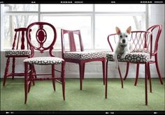 dif chairs, same color/same fabric