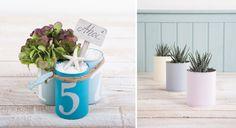 Des boîtes de conserve détournées en pots décoratifs