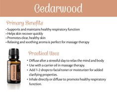 - Want to know all about cedarwood essential oil? Here is all there is to know about doTERRA cedarwood essential oil uses including DIY & diffuser blends. Cedarwood Essential Oil Uses, Doterra Cedarwood, Patchouli Essential Oil, Doterra Essential Oils, Diffuser Recipes, Healthy Oils, Diffuser Blends, Diffuser Diy