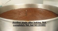 nail method for 'no dome' cakes