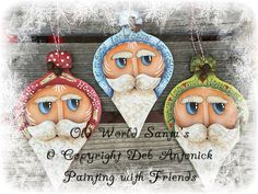 E-Pattern - Old World Santa's by PaintingwithDeb on Etsy