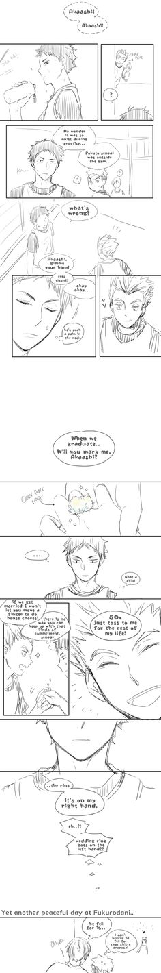 Haikyuu!! - Bokuto x Akaashi | Ohh, this is so cute, I would fall for that too. (*-*)