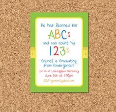 preschool invitations templates  printable preschool graduation, invitation samples