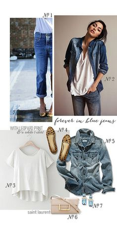 {style inspiration | chic in chambray : with a white blazer} | TIG