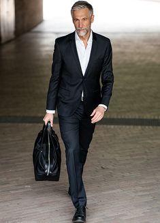 ANDREAS VON TEMPELHOFF   VIVA Models Older Mens Fashion, Men's Fashion, Silver Foxes Men, Andreas, Gorgeous Men, Shirt Style, Fashion Accessories, Handsome, Suits