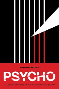 Minimalist Psycho. Why can't movie posters really be like this?