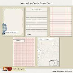 PRINTABLE Journaling Cards Travel Set 1 by baersgarten on Etsy, $3.00