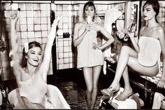 Cara Delevingne, Suki Waterhouse and Georgia May Jagger for Vogue UK April 2015 by Mario Testino