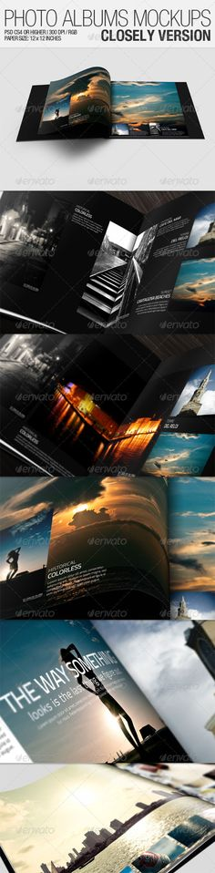 Buy Photo Albums Mockups - Closely Version by CarlosViloria on GraphicRiver. Photo Albums Mockups is a file, specially designed to create presentations of Albums designs, wanting to show these . Graphic Design Templates, Print Templates, Buy Photos, Album Design, Best Graphics, Presentation Templates, Mockup, Photoshop, Flyer Template