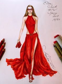 HOLIDAY•RED•SERIES❤️ @nataliazorinliu #FashionIllustrations |Be Inspirational ❥|Mz. Manerz: Being well dressed is a beautiful form of confidence, happiness & politeness