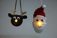 Twoweeks ago I shared a free pattern with you to make a cute light-up reindeer ornament. (click HERE for pattern). We all knowevery pet needs a human and a reindeer's human should be Santa!…