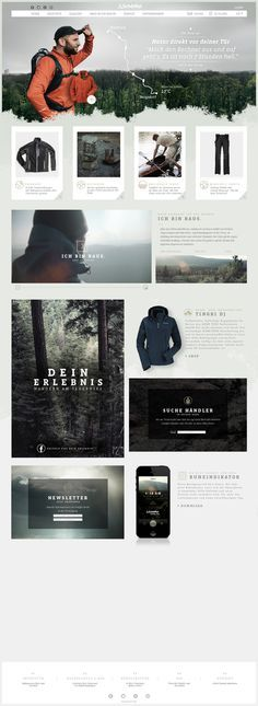 Schöffel Website & App by Mike John Otto, via Behance #web #design #layout #userinterface #website < repinned by Alexander Kaiser | visit www.kaiser-alexander.de