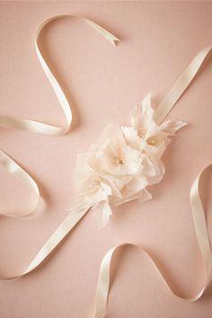 Magnolia Silk Sash by Hand & Heritage | BHLDN