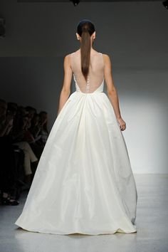 Amsale, NYC Bridal Market 2012 - Gorgeous Illusion back with covered buttons! So classic yet unexpected!