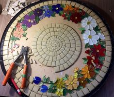"""Designs for Mosaics Templates 1201 Best Geometric Design Round Oval Mosaics Images On Of Designs for Mosaics Templates Mosaic Patterns""""Around the Town"""" - as I call it - mosaic! Mosaic Tile Art, Mosaic Crafts, Mosaic Projects, Mosaic Glass, Mosaic Birdbath, Mosaic Madness, Mosaic Designs, Mosaic Patterns, Mosaic Furniture"""