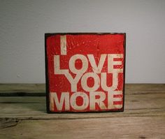 Valentines Day  Inspirational Typography Art Block by MatchBlox, $25.00