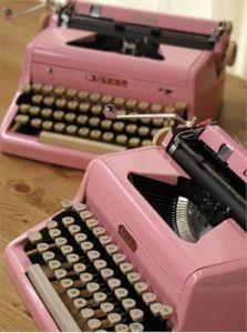 Pink typewriters