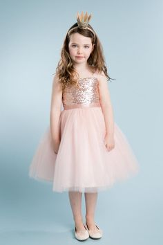 Amazon.com: Little Girls' Beautiful Sequin Dress Perfect for Easter Flowers Girls Dresses: Clothing