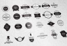 24 Vintage Badges Bundle - 50% off by elegrad on @creativemarket